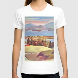 Lake George, Adirondack Mountains, New York pastoral landscape painting by Judson Smith T-shirt
