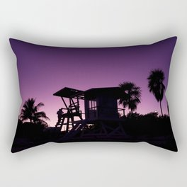 Baywatch tower silhouette sunset Rectangular Pillow