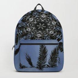 Florida Palm Fronds Abstract Mandala Backpack
