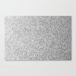 Beautiful Silver glitter sparkles Canvas Print