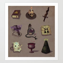Occult items Art Print