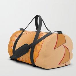 Rounded orange 1 Duffle Bag