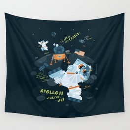Apollo 11 Moonlanding Anniversary Wall Tapestry