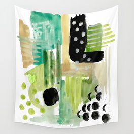 Garden Fern Abstract Wall Tapestry