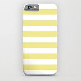 STRIPES (KHAKI & WHITE) iPhone Case