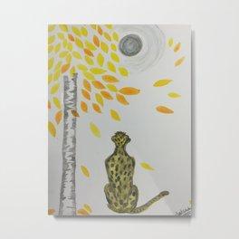 Calmness of cheetah Metal Print