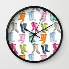 Wellies Wall Clock