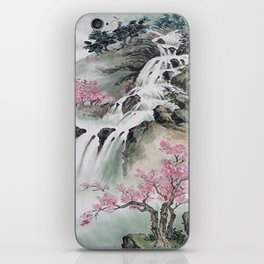 WATERFALLS AND MOUNTAIN LANDSCAPE iPhone Skin