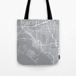San Diego Map, California USA - Pewter Tote Bag