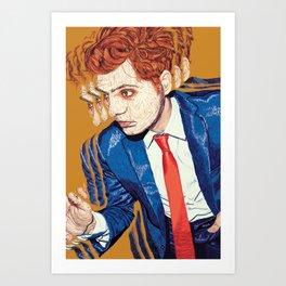 Gerard Way in Millions Art Print