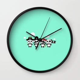Panda Pirates Crew T-Shirt for all Ages Dt4v1 Wall Clock