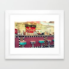 retro diner Framed Art Print