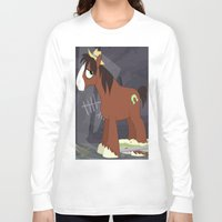 mlp Long Sleeve T-shirts featuring MLP TROUBLESHOES CLYDE by Kalisourusrex