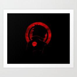Red Uchiha Sasuke Art Print