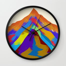 Mountains Of Color Wall Clock