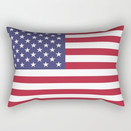 USA flag - Hi Def Authentic color & scale image Rectangular Pillow