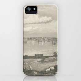 Vintage Pictorial Map of Louisville KY (1854) iPhone Case