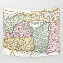 Vintage Map of Israel (1632) Wall Tapestry