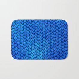 Mermaid Scales - Blue Bath Mat
