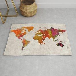 World Map 57 Rug