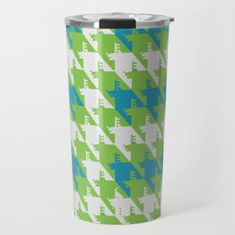 Where is the reindeer of Santa?_L  Lgray&Lime Travel Mug