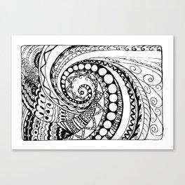 tangle geometric zen pattern2 Canvas Print