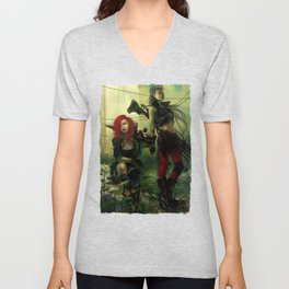 Hot pepper - Sci-fi soldier girls with weapons Unisex V-Neck