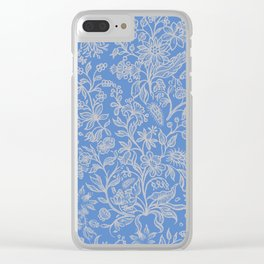 Flower Style Pattern XVI Clear iPhone Case