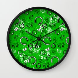 Gamers-Green Wall Clock