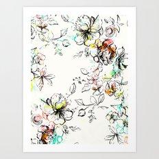 CAMP FLORAL Art Print