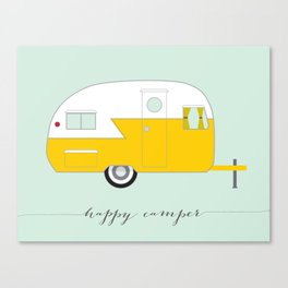 Yellow Happy Camper Canvas Print