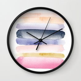 Brushstroke Ombre Abstract Wall Clock