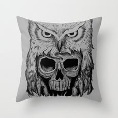 Owlskull Throw Pillow