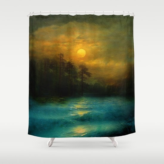 Hope, in the turquoise water. Shower Curtain