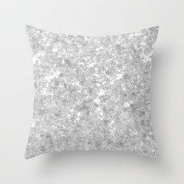 Snow patterns Throw Pillow