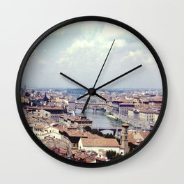 Vintage Florence Italy #florence #italy Wall Clock