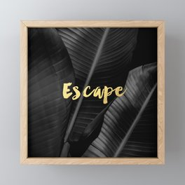 Escape - gold Framed Mini Art Print