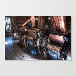 Old grain mils Canvas Print