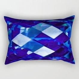 Blue Sapphire September Birthstone Gem Rectangular Pillow