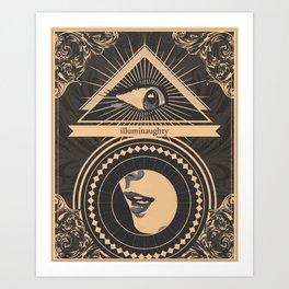 Illuminaughty Art Print