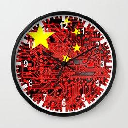 circuit board Flag (China) Wall Clock