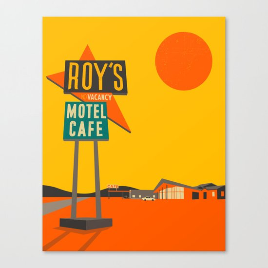 Roys Cafe, Route 66 Canvas Print