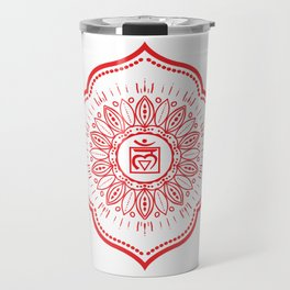 Root Chakra Mandala #04 Travel Mug