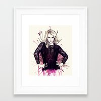 britney Framed Art Prints featuring Britney by Mibou