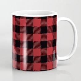 90's Buffalo Check Plaid in Red and Black Coffee Mug