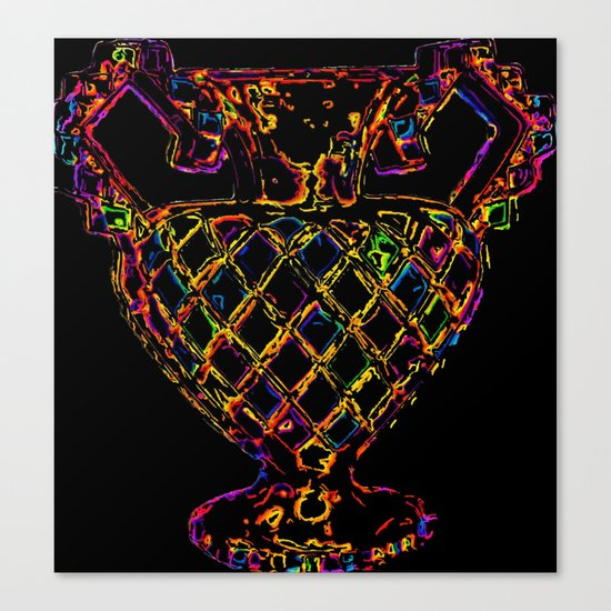 Psychedelic Outline  Canvas Print