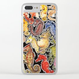 Sea horses Clear iPhone Case