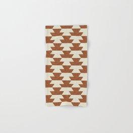 boho geometric aztec in ginger Hand & Bath Towel