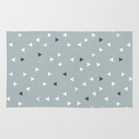 skiing Area & Throw Rugs featuring TRY ANGLES / alpine skiing by DANIEL COULMANN