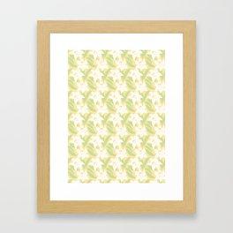 Japanese Floral Pattern 01 Framed Art Print